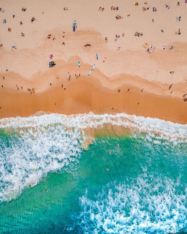 Bondi From Above  Now Available as Fine Art Canvas Float on www.kess.gallery  Link in Bio