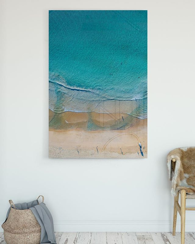 • A Q U A B L U E Fine Art | Acrylic | Framed Canvas Location:  Wanda Beach, Cronulla Link in Bio — — —