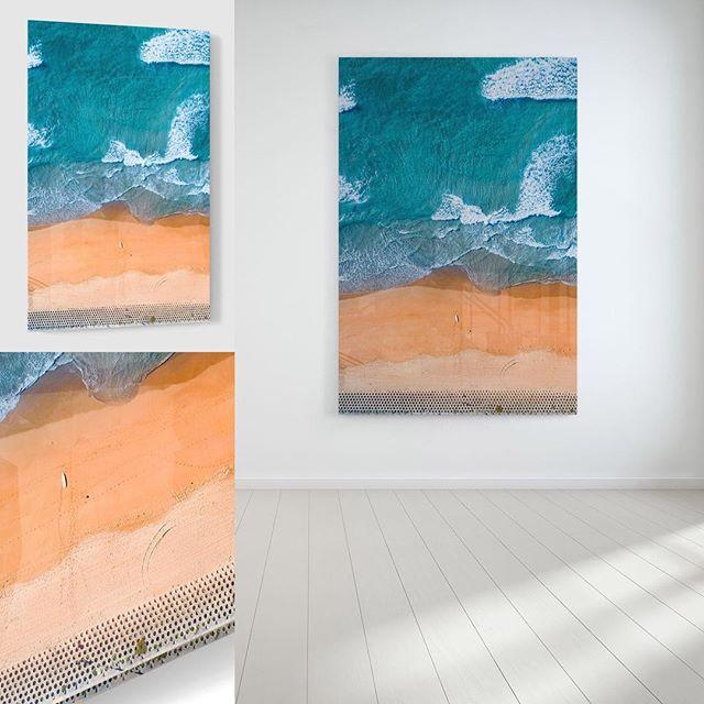• H O N E Y C O M B Fine Art | Acrylic | Framed Canvas Location:  The Wall, Cronulla  Link in Bio — — —