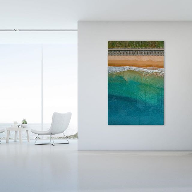Cronulla Flow  Available as Fine Art Acrylic - Canvas - Canvas Float & Paper Print on www.kess.gallery  Link in Bio