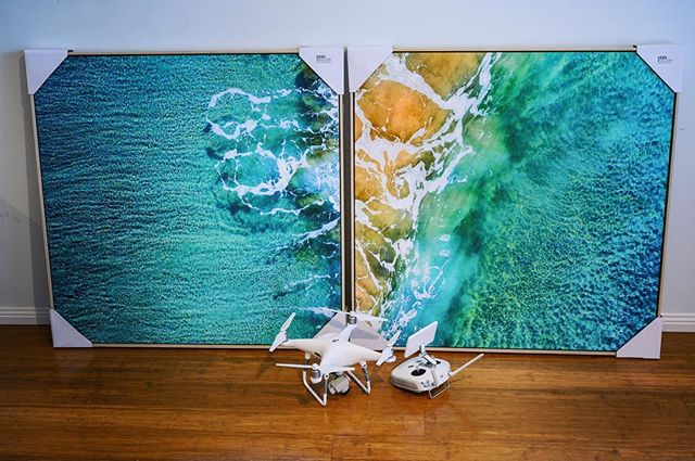 I just delivered  these two 1x1 Meter Floating Canvas Prints to a Client in Caringbah. The detail on these prints is amazing.