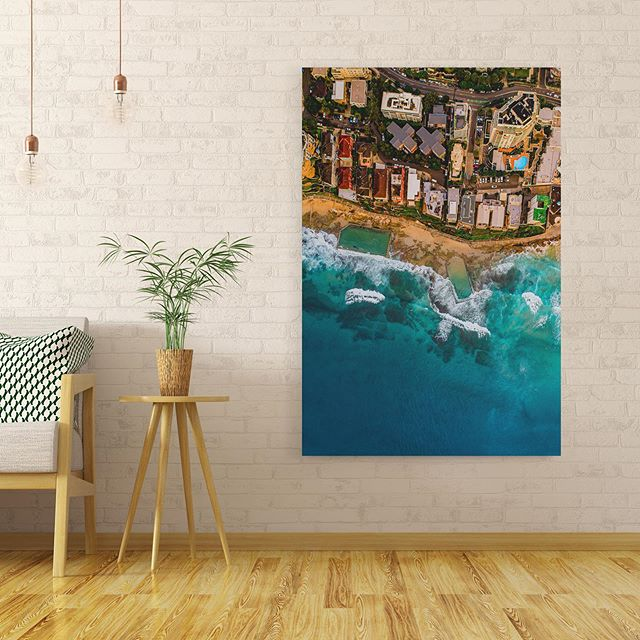 Cronulla Birds-Eye 🦅 👁  Available as Fine Art Acrylic, Canvas & Paper Prints on www.kess.gallery