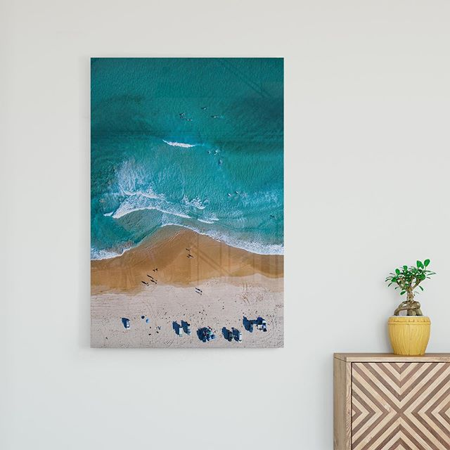 Beach Parking 🏖️ 🚔   Available as Fine Art Print on www.kess.gallery  It's clearly a busy morning down at Wanda! Spectators have parked their cars along the waters edge in prime position to watch the surfing. 