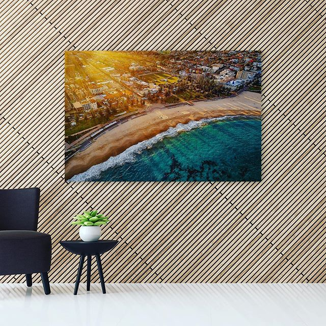 Coogee Rays  Available as Fine Art on Kess Gallery - Link in Bio  Aerial Drone Photo of Coogee Beach at Sunset.  Location:  Coogee Beach, Sydney 
