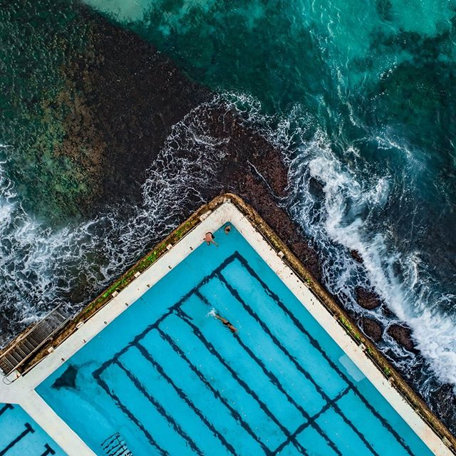 Bondi Icebergs II by Alex Kess from $100.00  Shop Now  Link in Bio   Detail view of the Famous Icebergs Pool, Sydney, Australia  Location: Bondi Beach, Sydney, Australia 
