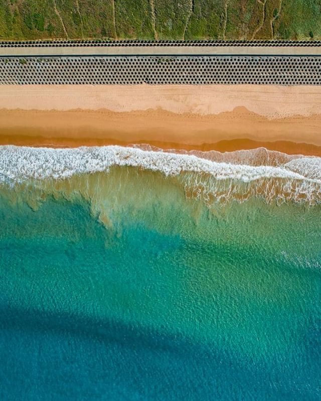Cronulla Flow by Alex Kess from $130.00  Shop Now  Link in Bio   Colours of Cronulla flowing towards the shore.  Location:  North Cronulla, Australia 